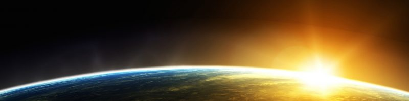 cropped it sunrise over earth on right horizontal3